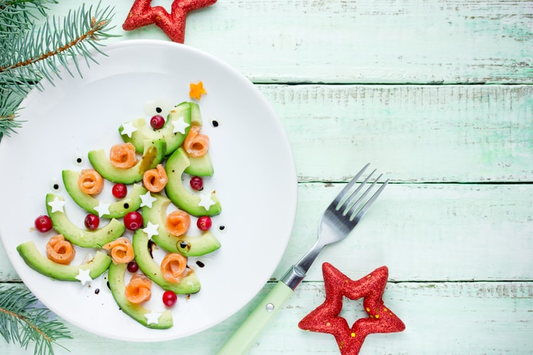 avocado-christmas-tree 10 tips for losing weight before Christmas